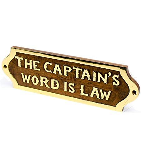 lz Bezeichnung & Titel Namensschild | Nautical Holz Plaque & Türschild Kinderzimmer | Captain 's Maritime Home Wand-Decor | NAGINA International (Nautische Einladungen)