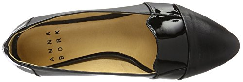 Anna Bork Damen Loafers Slipper Schwarz