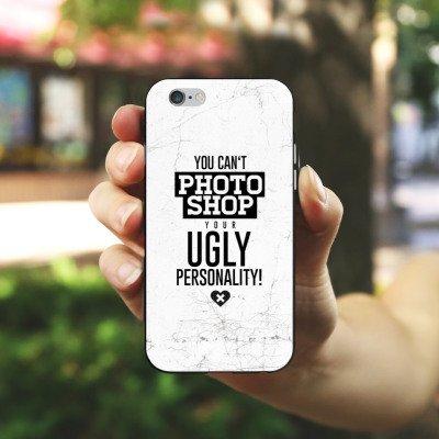 Apple iPhone X Silikon Hülle Case Schutzhülle Persönlichkeit Sprüche Humor Silikon Case schwarz / weiß
