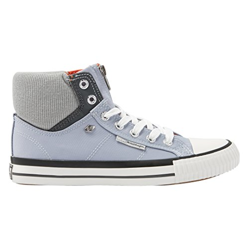 British Knights OPIE DAMEN HIGH-TOP-SCHUH SNEAKER LAVENDEL/HELLGRAU/ORANGE