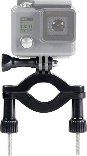 Speedlink Action-Cam-Befestigung - Bar Mount for GoPro (Kompatibel mit Durchmessern bis zu ca. 5 cm - Abnehmbare Kamera-Halterung - Extrem sicherer Halt) Fahr - und Motorräder schwarz