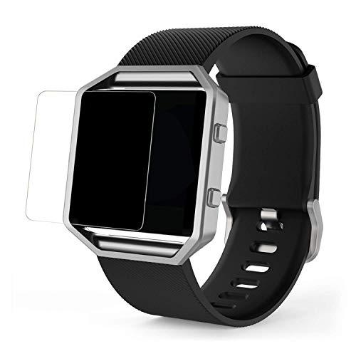 MoKo Fitbit Blaze Glas Schutzfolie - 2x Tempered Glass HD 9H Hartglas Schutzglas Panzerglas Bildschirmschutzfolie Glasfolie Bildschirmschutz Screen Protector Folie für Fitbit Blaze Smart Fitness Watch, Klar