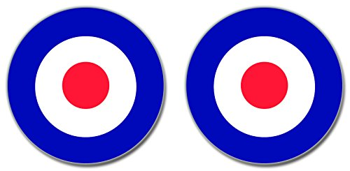 british-raf-air-force-roundel-vinyl-sticker-decal-86mm-2-off