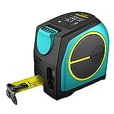 Misura di nastro laser, Mileseey DT10 Misura di nastro di ricarica USB 2 in 1 5m + LCD Digital Laser Range Finder 40m Campo di misura 2 in 1 Misura di nastro laser