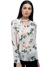 Ombre Lane Womens Floral Regular Fit Silk Shirt