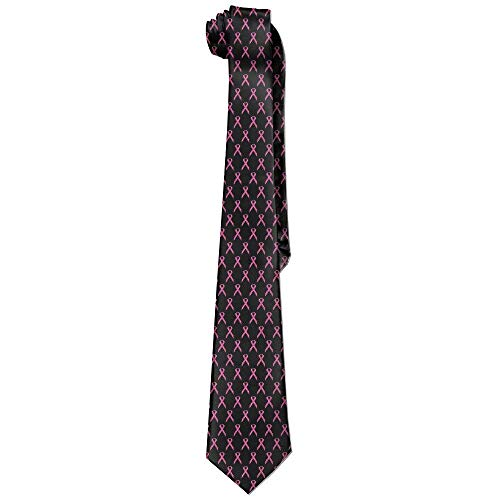 Jxrodekz Pink Ribbon For Breast Cancer Necktie Skinny Ties (Ribbon Blue Quilts)