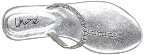 Unze Evening Slippers, Sandali donna Argento (Silber (L18303W))