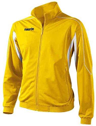 Felpa con zip completa uomo macron era top maglia tuta giacca sportiva colorata, colore: giallo, taglia: s