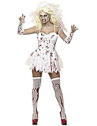 MIXLOT Frauen sexy erwachsene blutige Krankenschwester und blutige Braut Halloween Kostüm furchtsame gruselige Kostüm Größe S-XL