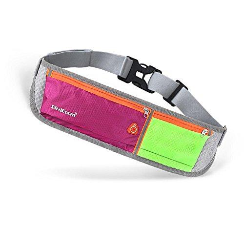 Licht und Breathable persönliche Unsichtbarkeit Taille Tasche, Männer und Frauen Outdoor Sport, Laufen, Radfahren, Wandern, Reisen, Fitness Taille Tasche / Handy Sicherheit Taille Tasche, geeignet für rose red green