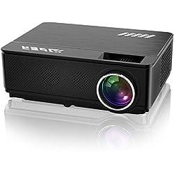 """YABER Vidéoprojecteur 4200 Lumens Soutien 1080P Full HD Home Cinéma Projecteur LED avec Deux Haut-parleurs Stéréo (de Qualité HiFi - Haute-fidélité) et 3 Ventilateurs Intégrées, 200"""" Affichage"""