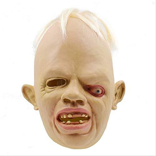 Neuheit Latex Gummi Creepy Cry Baby Face Head Maske Halloween Weihnachtsfeier Kostüm Dekorationen Erwachsene Zubehör
