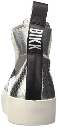 Bikkembergs Pow-Er 878, Sneaker a Collo Alto Donna Nero (Black/Silver)