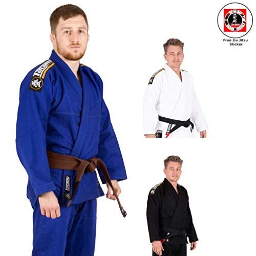 bsolute für Herren - Inklusive weißem Gürtel und BJJ Sticker - BJJ Gi Kimono Jiu Jitsu Anzug für Erwachsene von der #1 BJJ Marke Tatami - konform nach IBJJF (Schwarz, A2) ()