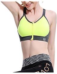 Laixing Buena Calidad Women Yoga Fitness Stretch Workout Tank Top No Rims Racerback Sports Bra