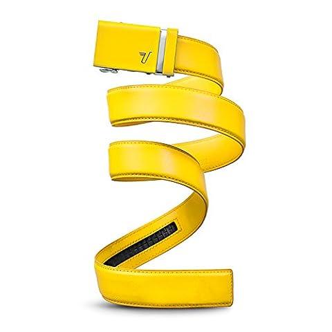 Mission Belt Men's Ratchet Belt - Bolt - Yellow Buckle