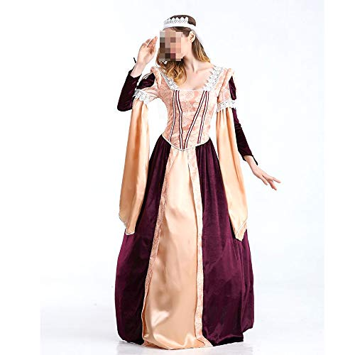 YyiHan Halloween Kostüm, Outfit Für Halloween Fasching Karneval Halloween Cosplay Horror Kostüm,Halloween Kostüm Retro Palast Kostüm Griechische Göttin - Griechische Göttin Kostüm Bilder