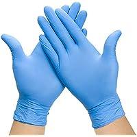 GULEHAY Guantes desechables multifuncionales, guantes de grado alimenticio, reutilizables, tamaño mediano, azul (caja de 20)