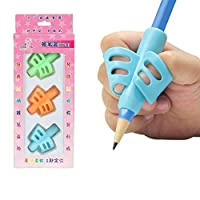 Mainstayae 3pcs Two-Finger Silicone Pencil Grips Pen Holder Ergonomic Writing Aid Posture Correction Tool for Kids Preschoolers