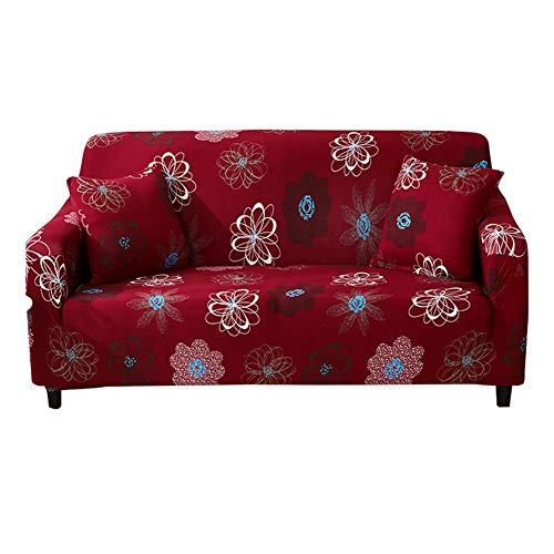 HOTNIU Funda Elástica de Sofá Funda Estampada para sofá Antideslizante Protector Cubierta de Muebles (Tres Plazas, Patron #Ffnhh)