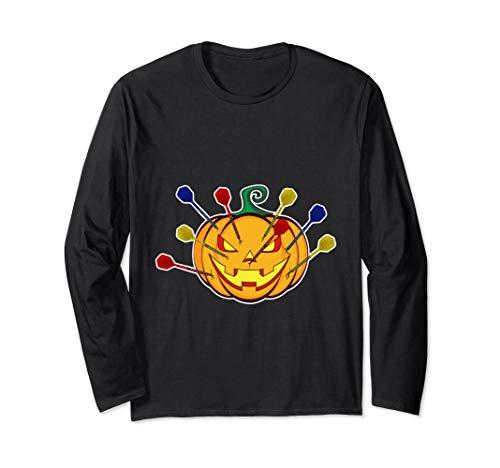 Mal Kostüm Ziel - Halloween Darts Kostüm für Dart Spieler Langarmshirt