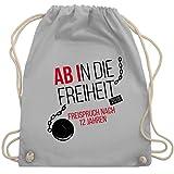Abi & Abschluss - Abi 2019 Ab in die Freiheit - Unisize - Hellgrau - WM110 - Turnbeutel & Gym Bag