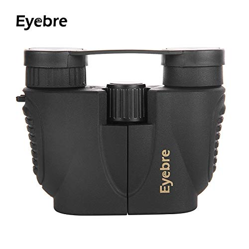 HITSAN INCORPORATION EYEBRE 10X22 Optical Binoculars Telescope HD 114m-1000m Viewing Filed Spotting Scope for Travel Outdoor Sports Color Black