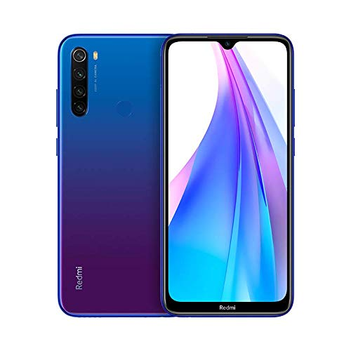 Redmi Note 8T Smartphone (16cm (6.3 Zoll)) FullHD+ Display, 32GB interner Speicher + 3GB RAM, 48MP Vierfach-KI-Rückkamera, 13MP Selfie Frontkamera, Dual SIM, Android 9), Sternenhimmel Blau