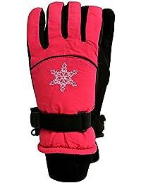 Outburst - Filles Gants Thermo Gants Enfants de ski flocon doublé, rose