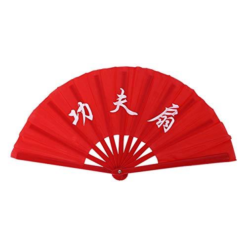 Lorenlli Ventilador de baile Hueso de bambú Tai Chi Ventilador de mano...