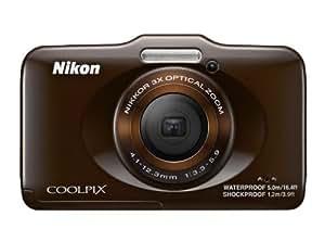 """Nikon Coolpix S31 Appareil photo numérique compact 10,1 Mpix Ecran 2,7"""" Zoom optique 3x Marron"""