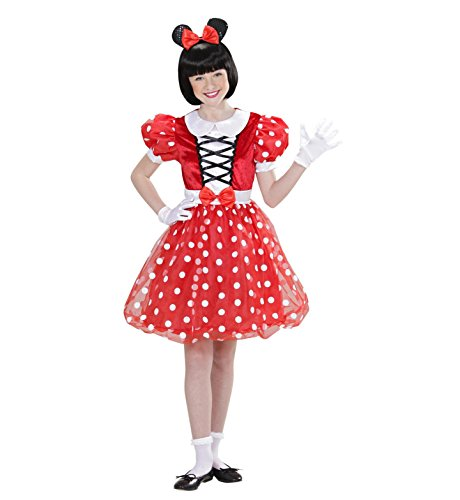 Widmann 01547 - Kinderkostüm Mäuschen, Kleid und Ohren