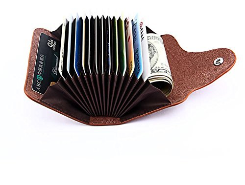 Qandsweet Mens Leisure Wallet Womens Card Case Wallets (Brown)