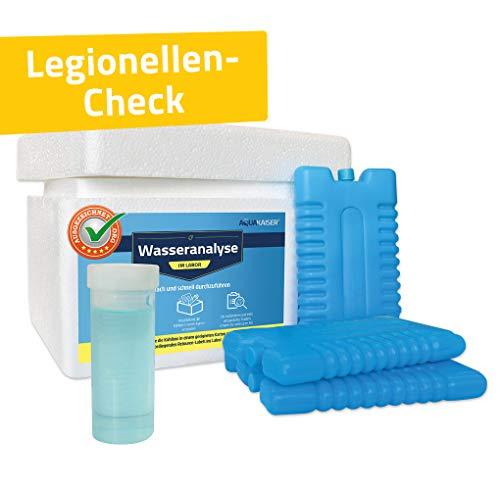 Aquakaiser Wassertest auf Legionellen - inkl. Test-Set und Laboranalyse - Legionellentest für Haushalt, Whirlpool, Garten