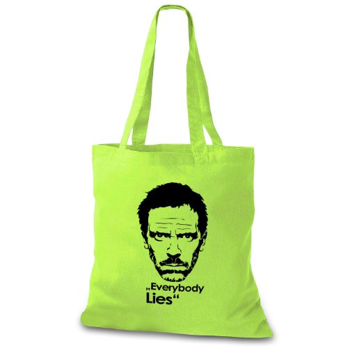StyloBag Jutebeutel Everybody Lies Stofftasche Lila