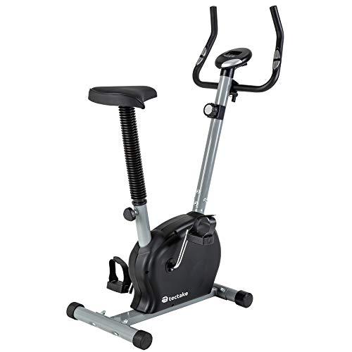 TecTake® Fitness Fahrrad Hometrainer mit Computer und Handpuls-Sensoren