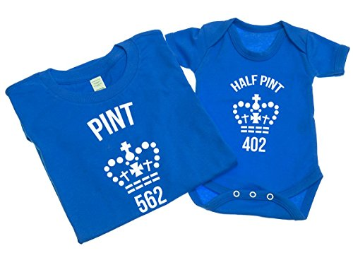 pint-and-half-pint-mens-t-shirt-with-short-sleeve-bodysuit-matching-gift-set-m-0-3-blue