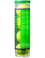 Wilson Tennisbälle, Starter Play Green, 4er Dose, Gelb, Für Kinder und Jugendliche, WRT137400