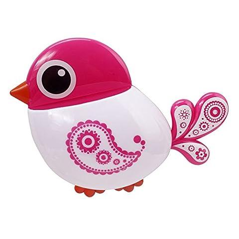 Hunpta Lovely Popular Design Charming Suction Tooth Brush Holder Bird Pattern (Pink)