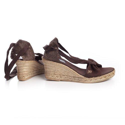 VISCATA Tossa Espadrilles Femme talon de 6,5 cm compense elegant Fabrique en Espagne brown