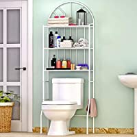 Bathroom Storage Shelf over the Toilet Storage Rack Organizer 3 Tier Metal White Space Saving for Bathroom Toilet Washing Machine