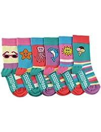 6 Verrückte Socken 15 Kombinationen - Oddsocks Sea Legs für Mädchen