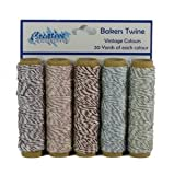 vintage-bakers Twine Set de 5 Couleurs 20yds jeder