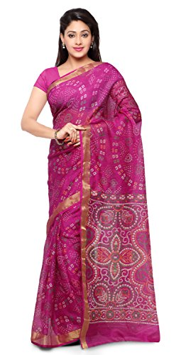Rajnandini Women's Cotton Saree (Joplsrs1051I_Magenta)