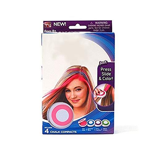 Sungpunet colorazione dei capelli gesso temporanee 4 colori vivaci gesso  dei capelli lavabili istantanei regalo Hair 4a8b546278e7