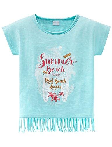 Schiesser Mädchen T-Shirt Rundhals, Grün (Mint 708), 116 Kinder Fransen