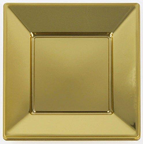 Line Teller quadratisch groß 23x23 cm 16 Stück gold (Wie Es Oder Nicht Halloween)