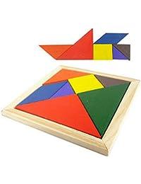 Reixus (TM) dr?les Boards puzzle en bois Puzzles color¨¦s Tangram Meilleur Intelligence Am¨¦liorer Jouets ¨¦ducatifs