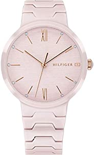 Tommy Hilfiger Women'S Pink Dial Blush Ceramic Watch - 178