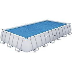 Bestway - Bâche solaire rectangulaire 703 x 366 cm pour piscine hors sol Frame Pool 671 x 366 cm et 732 x 366 cm